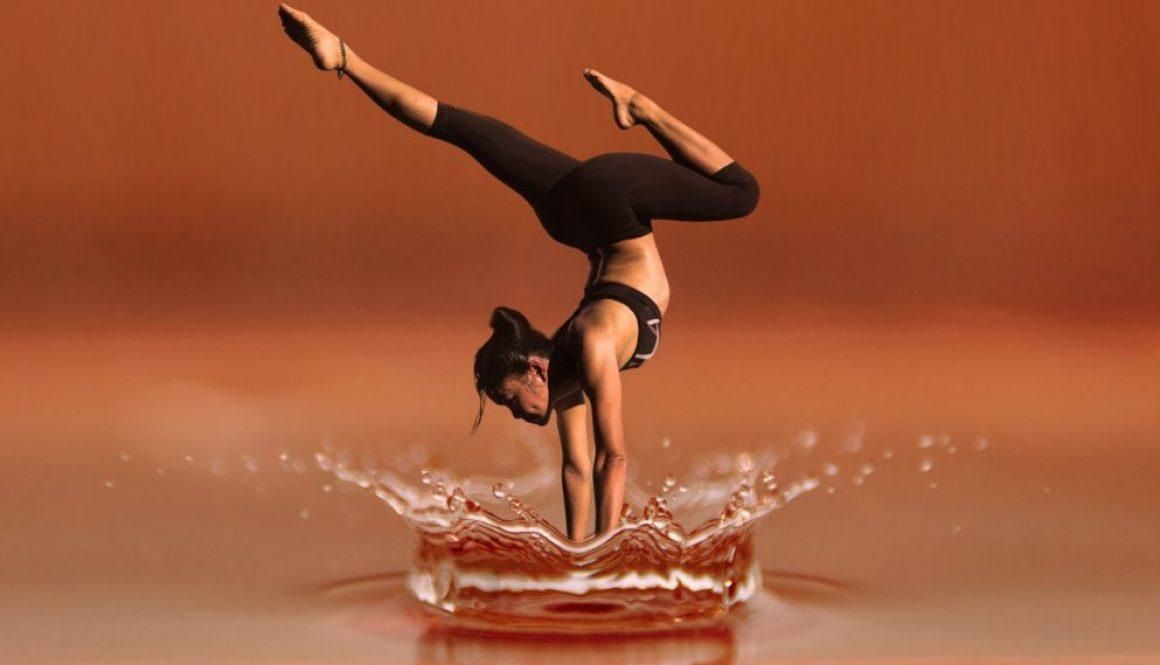 gimnastyczka na wodzie